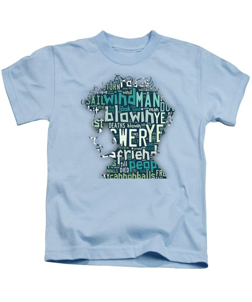 Bob Dylan Blowin In The Wind Kids T-Shirt by Marvin Blaine