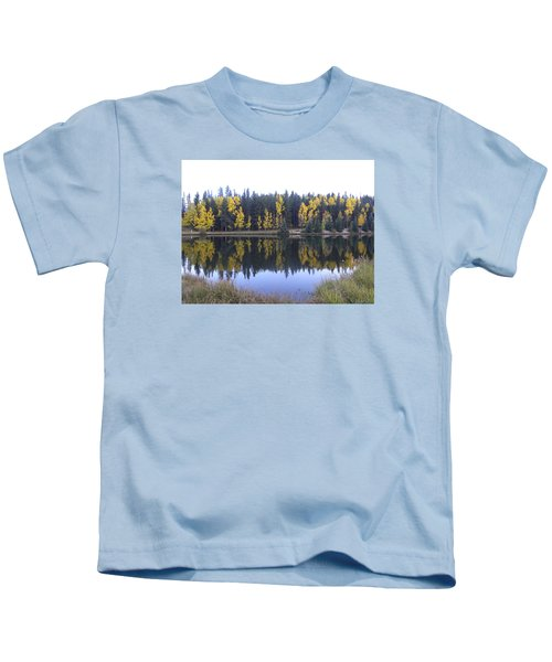 Potty Pond Reflection - Fall Colors Divide Co Kids T-Shirt