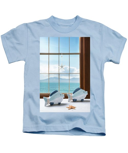 Fish In The Window Kids T-Shirt