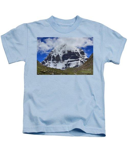 Holy Kailas North Slop Himalayas Tibet Yantra.lv Kids T-Shirt