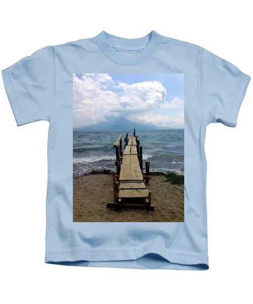 Lake Atitlan Dock Kids T-Shirt