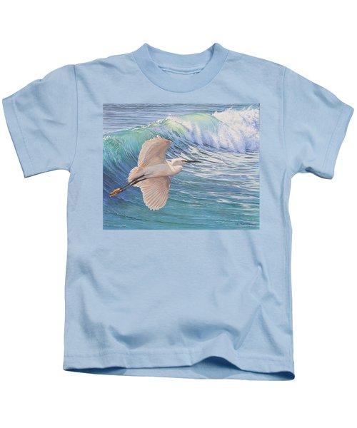 Little Egret Kids T-Shirt