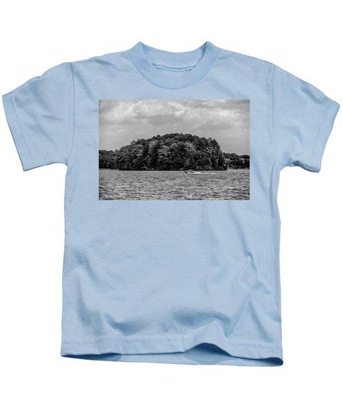 Relaxing On Lake Keowee In South Carolina Kids T-Shirt