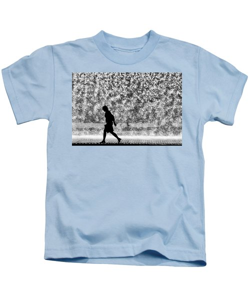 Silhouette Over Water Kids T-Shirt