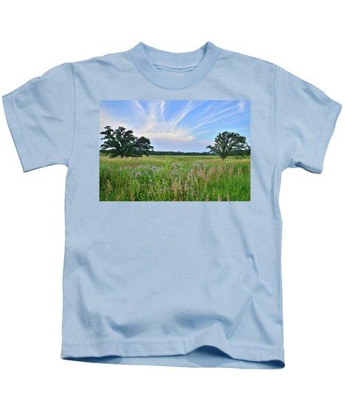 Silver Creek Conservation Area Sunset Kids T-Shirt
