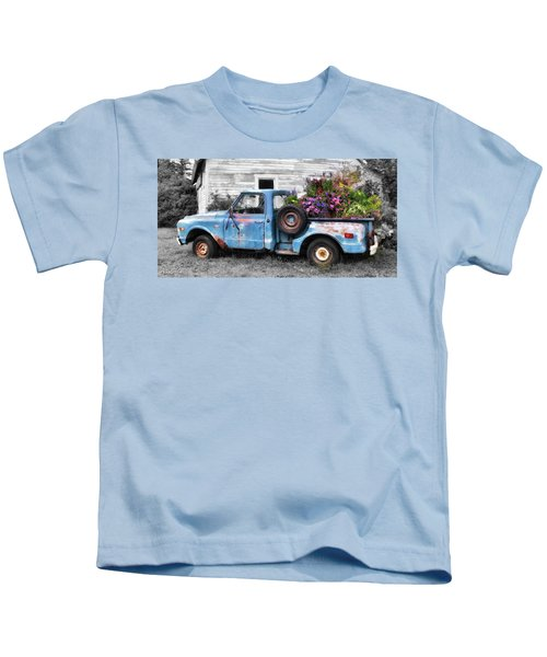 Truckbed Bouquet Kids T-Shirt