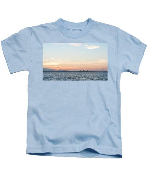 Twilight In Puget Sound Kids T-Shirt