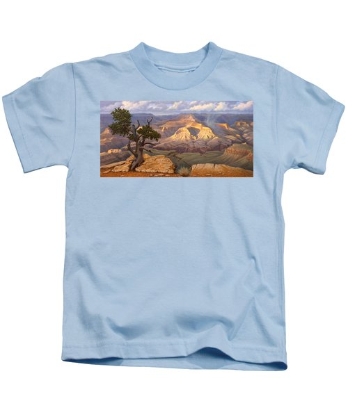 Zoroaster Temple From Yaki Point Kids T-Shirt by Paul Krapf