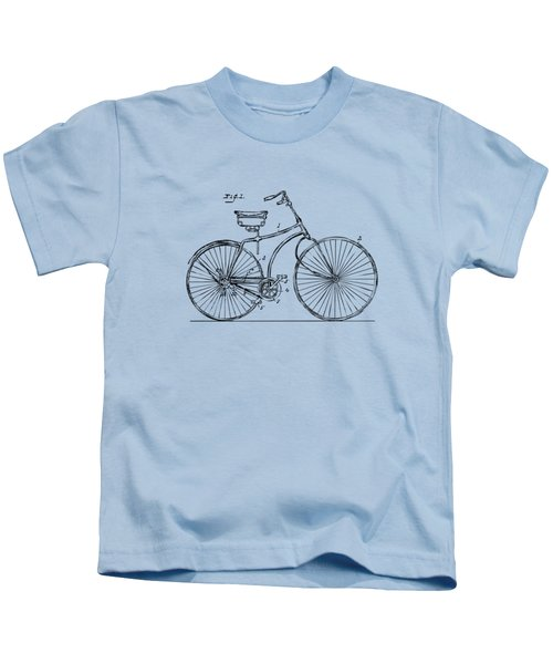 1890 Bicycle Patent Minimal - Vintage Kids T-Shirt