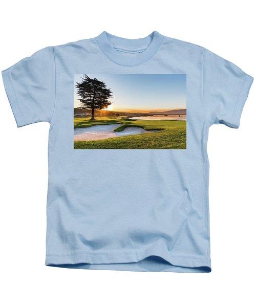 18th At Pebble Beach Kids T-Shirt
