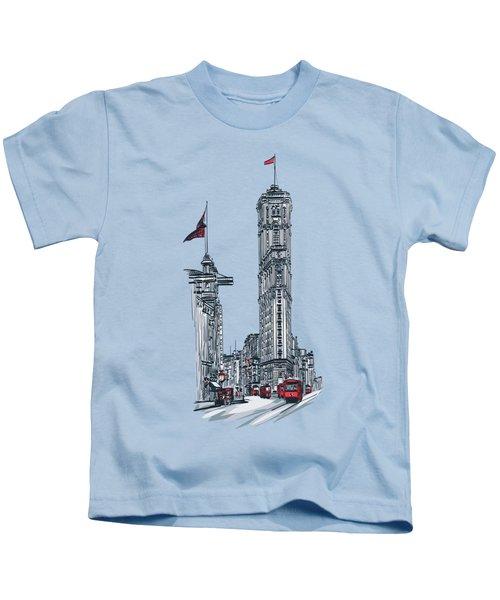 1908 Times Square,ny Kids T-Shirt by Andrzej Szczerski