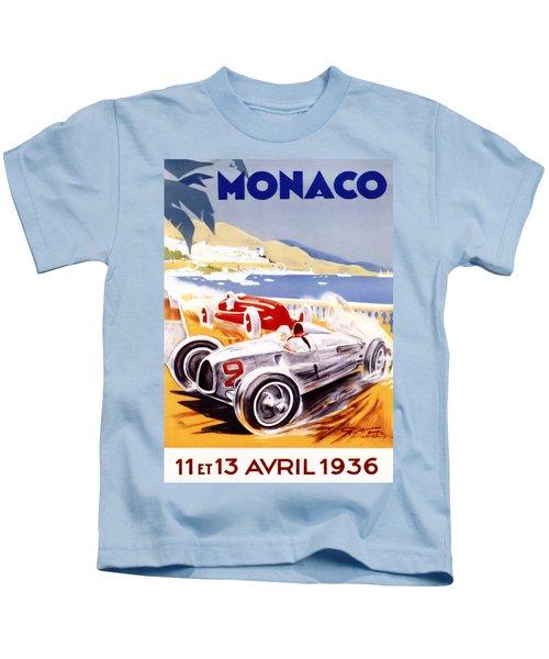 1936 F1 Monaco Grand Prix  Kids T-Shirt