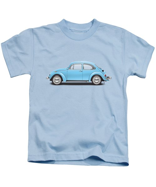 1972 Volkswagen Super Beetle - Marina Blue Kids T-Shirt