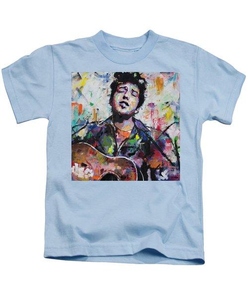 Bob Dylan Kids T-Shirt by Richard Day