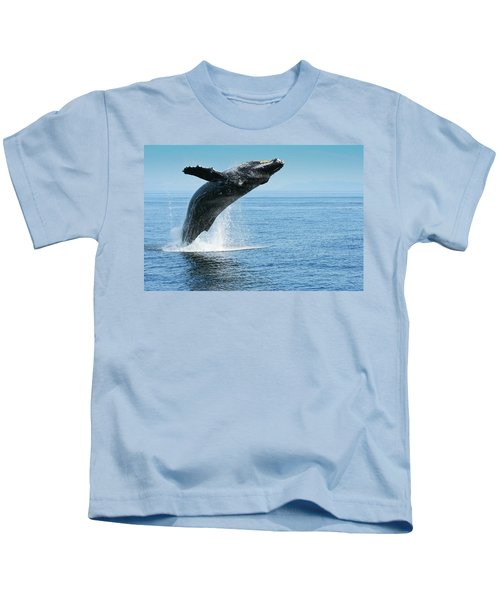 Breaching Humpback Whales Happy-1 Kids T-Shirt