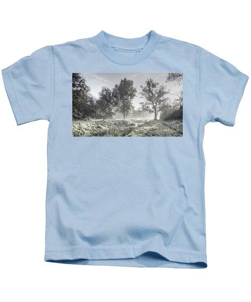 Colorful Autumn Landscape Kids T-Shirt