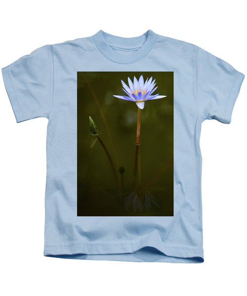 Deep Lily Reflection Kids T-Shirt