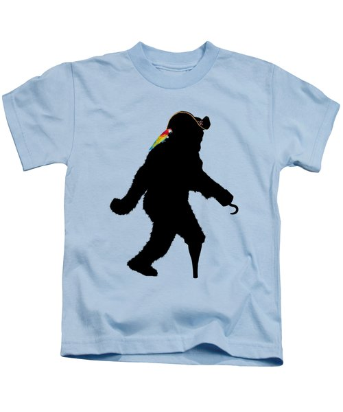 Gone Squatchin Fer Buried Treasure Kids T-Shirt by Gravityx9  Designs