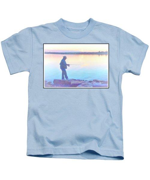 Sunrise Fisherman Kids T-Shirt