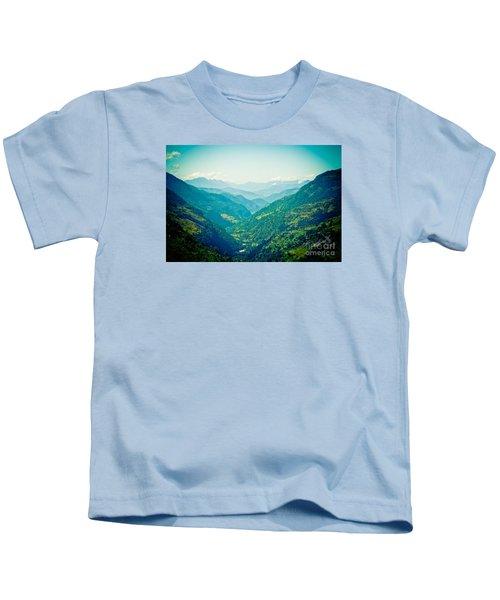 Valley Himalayas Mountain Nepal Kids T-Shirt
