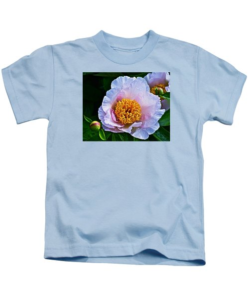 2015 Spring At The Garden White Peony  Kids T-Shirt