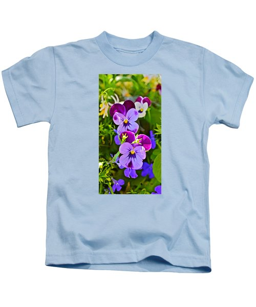 2015 Summer's Eve At The Garden Pansy Totem Kids T-Shirt