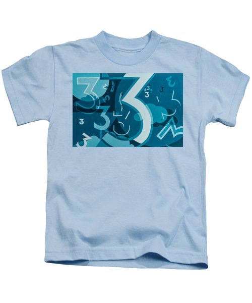 3 In Blue Kids T-Shirt