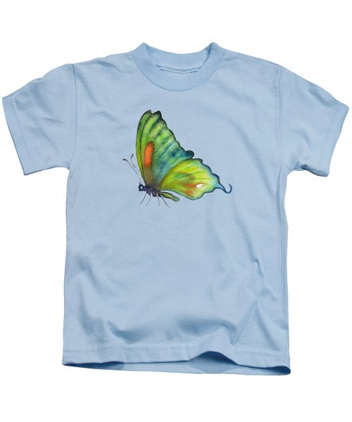 3 Perched Orange Spot Butterfly Kids T-Shirt by Amy Kirkpatrick