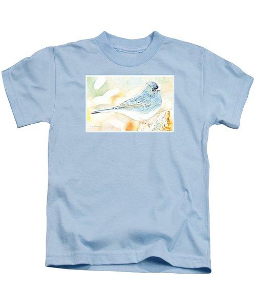 Slate-colored Junco, Snowbird, Male, Animal Portrait Kids T-Shirt