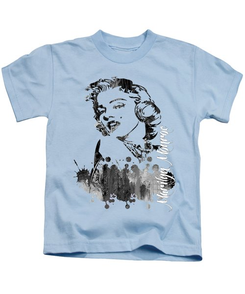 Marilyn Monroe Collection Kids T-Shirt by Marvin Blaine