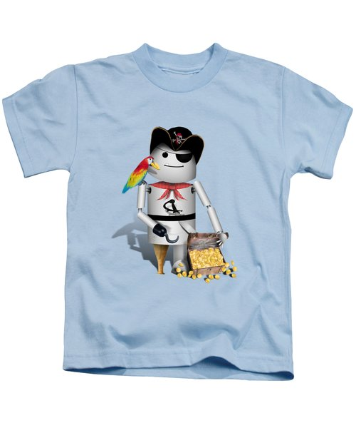 Robo-x9 The Pirate Kids T-Shirt by Gravityx9  Designs