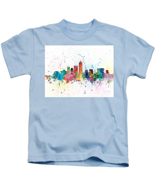 Indianapolis Indiana Skyline Kids T-Shirt