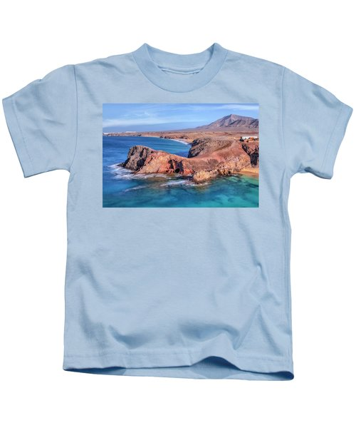 Playa Papagayo - Lanzarote Kids T-Shirt by Joana Kruse
