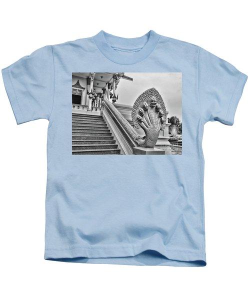 7 Snake Head Bw Kids T-Shirt