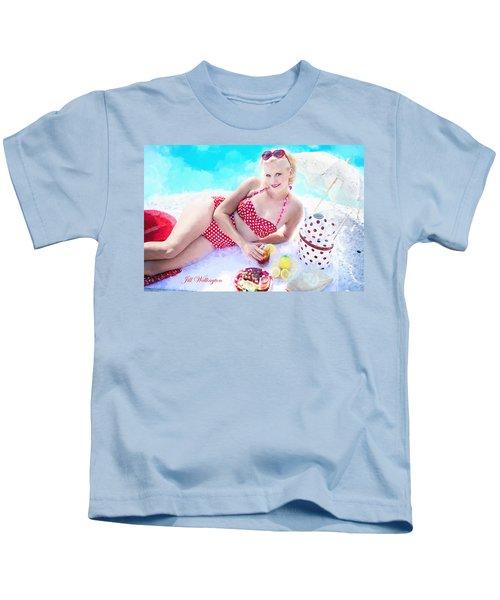 Vintage Val Poolside Kids T-Shirt