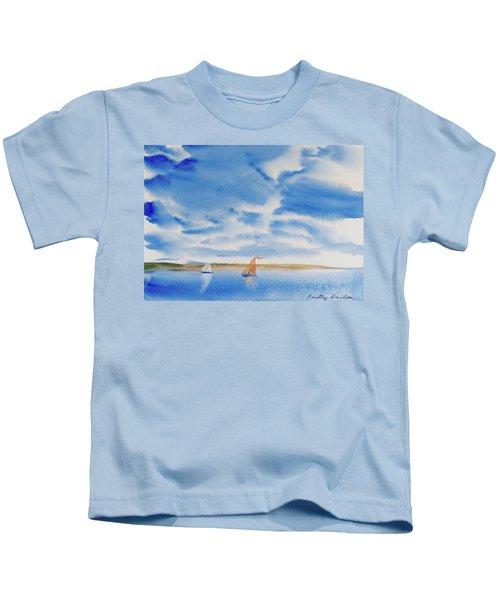 A Fine Sailing Breeze On The River Derwent Kids T-Shirt
