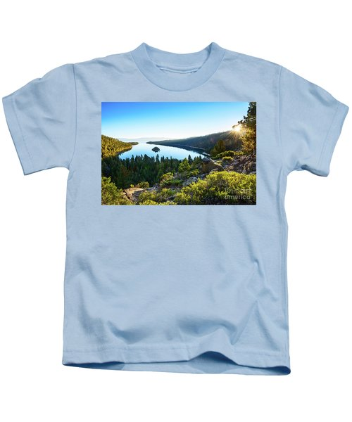 A New Day Over Emerald Bay Kids T-Shirt