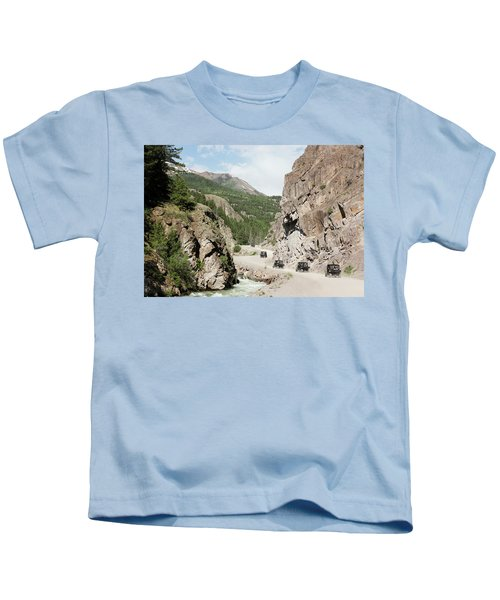 A Parade Of Atvs On The Alpine Loop Backcountry Byway Kids T-Shirt