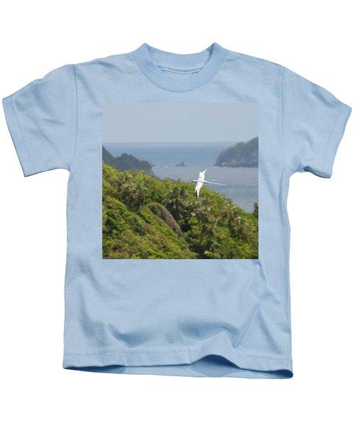 A Red-billed Tropicbird (phaethon Kids T-Shirt