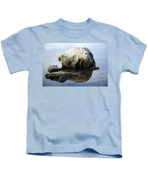A Rock In Still Water Kids T-Shirt