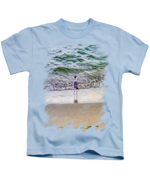 A Seagull Looking Out To Sea Kids T-Shirt