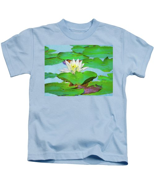 A Single Water Lily Blossom Kids T-Shirt