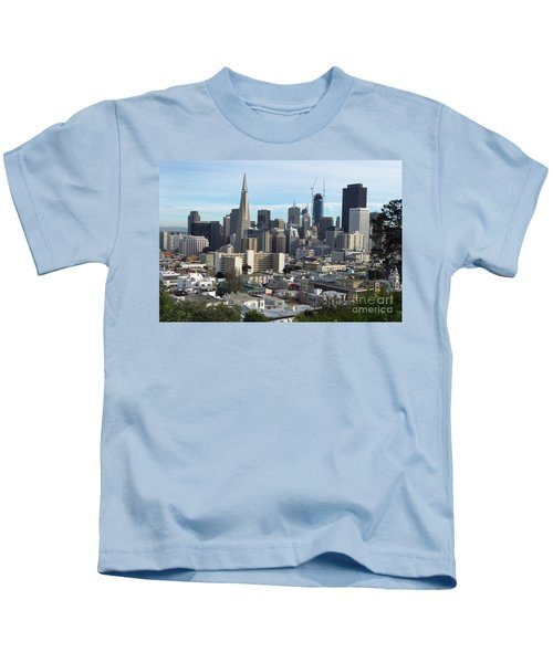 A View Of Downtown From Nob Hill Kids T-Shirt