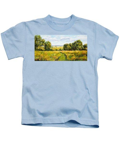A Walk Thru The Fields Kids T-Shirt