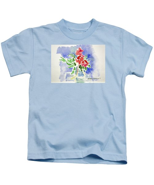 Abstract Flowers Kids T-Shirt