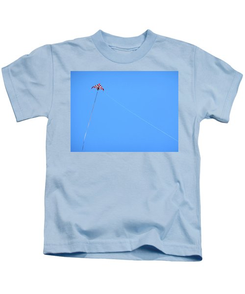 Abstract Kite Flying Kids T-Shirt