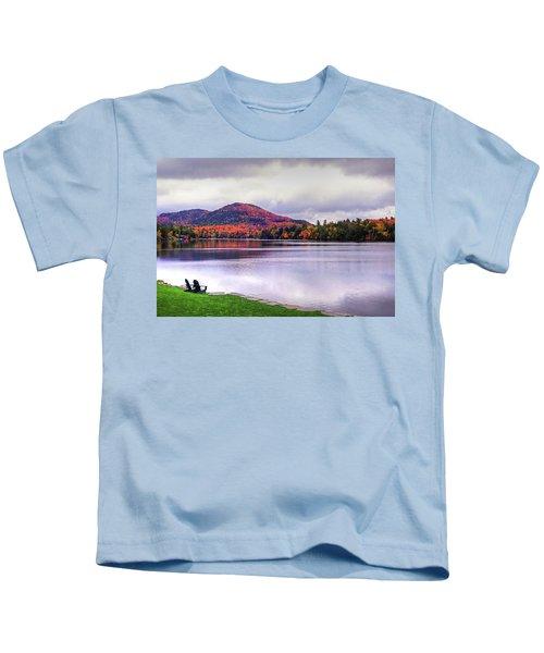 Adirondack Chairs In The Adirondacks. Mirror Lake Lake Placid Ny New York Mountain Kids T-Shirt