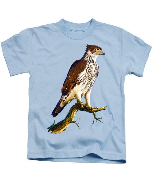 African Hawk Eagle Kids T-Shirt by Anthony Mwangi