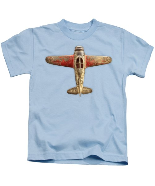 Airplane Scrapper On Color Paper Kids T-Shirt