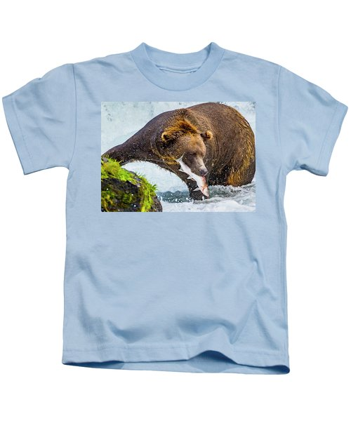 Alaska Brown Bear Kids T-Shirt